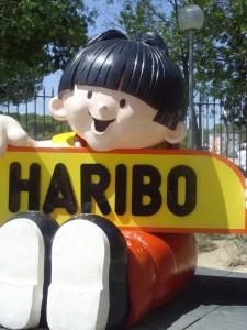 El símbolo de Haribo en la entrada del museo.