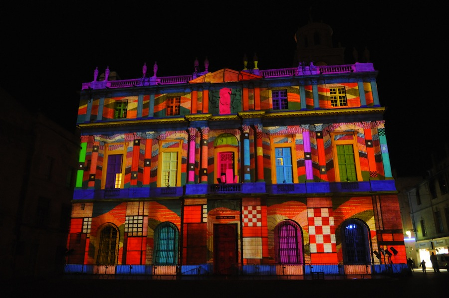 droles de noels facade hotel de ville pm illumination projection