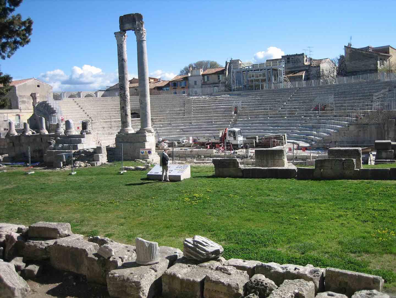 El teatro romano de Arles. ©Manuel Calvo.