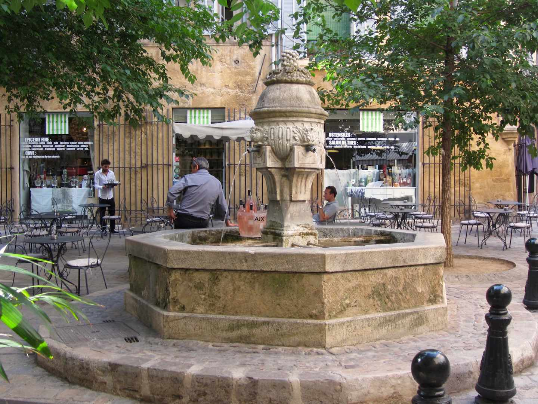 Las fuentes de Aix-en-Provence