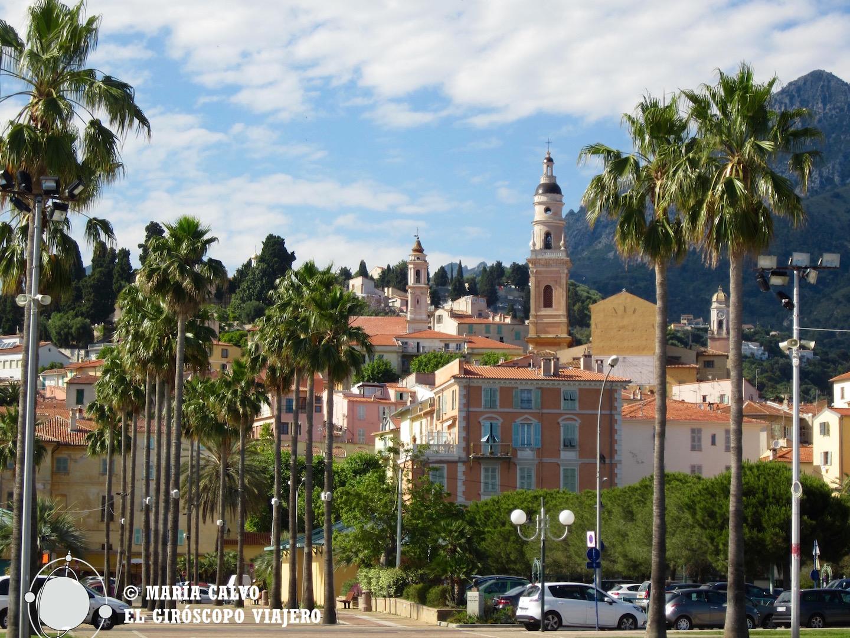 La ciudad de Menton, una de las más bellas de la Costa Azul.