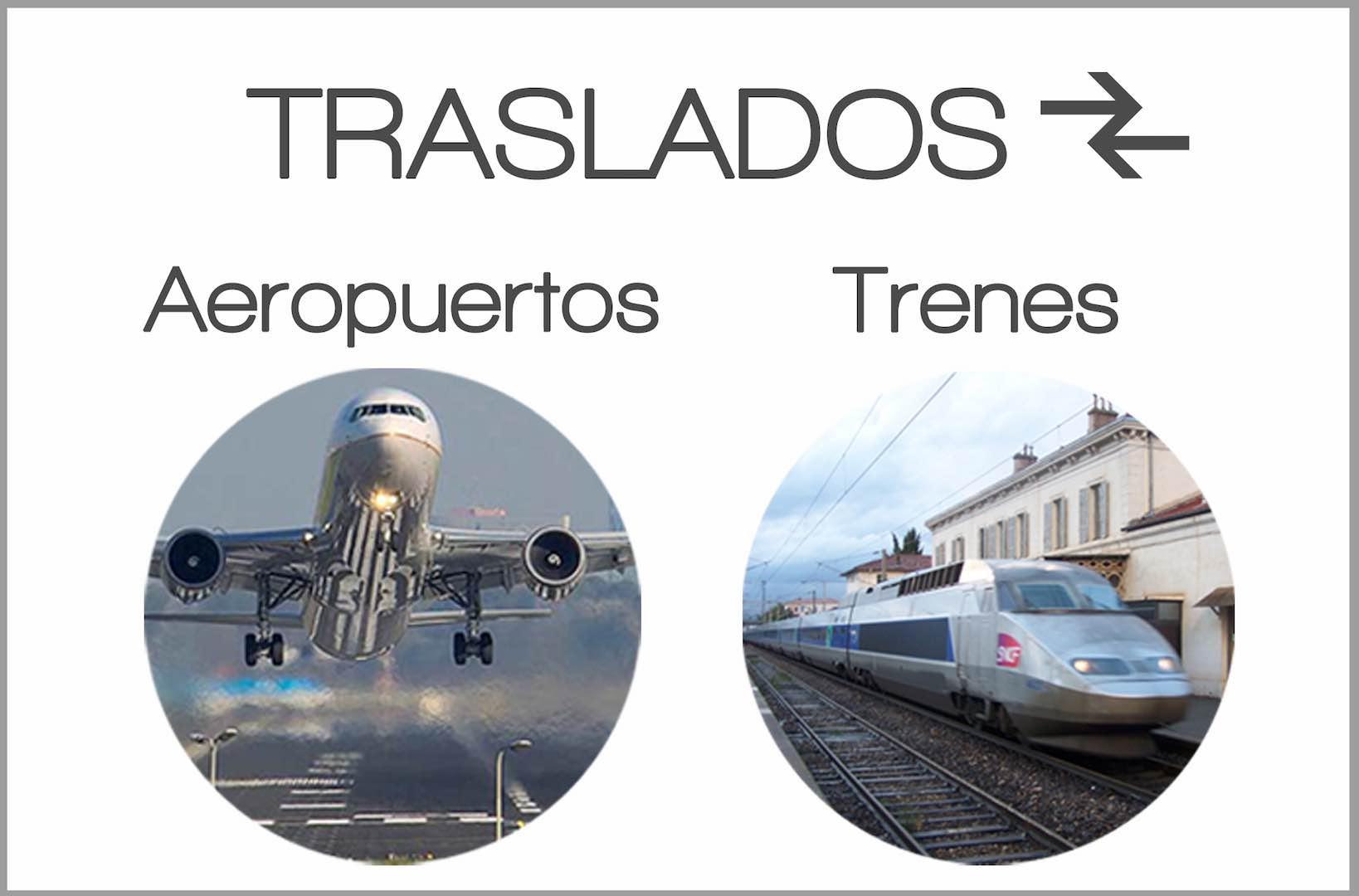 Tralados desde y hacia el aeropuerto y las estaciones de tren